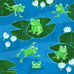 frog, lily, water lilies, pond, texture, and Pattern