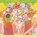 babies, lollipop, candy, colour, Colourful, jars, and sweets