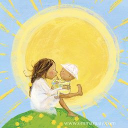 Mother and baby illustration by Emma Quay from MY SUNBEAM BABY (ABC Books) www.emmaquay.com