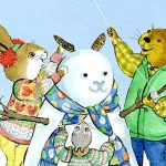 Winter fun, adorable animal, and kite