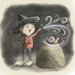 little witch, Magic, magic spell, and Halloween
