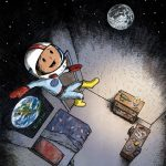 outer space, astronaut, and Bedtime & Dreams