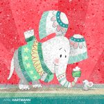 elephant, #mouse, Christmas, gift, texture, and patterns