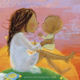 You will always be my baby – illustration by Emma Quay from MY SUNBEAM BABY (ABC Books) www.emmaquay.com