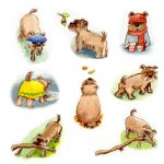 dogs and dog character