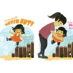 Mom and Daughter, helping, Child overcoming fear, Challenges, and adventuresome girl