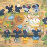 birthday cake, birthday party, mice, At home, eating, and Celebrate
