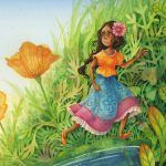 thumbelina, Fairytale, Fairytale Retelling, and Watercolor