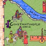 map illustration, empire, Byzantium, emperor, and the empress