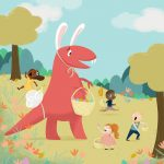 Easter, dinosaur, and funny