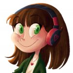 Illustration, character design, Concept Art, concept character design, cute, digital art, headphones, heart, and whimsical