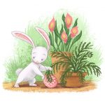 Easter, Easter Bunny, easter eggs, Plants, and   garden