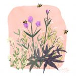 bumble bee,  spring,  flowers, and whimsical