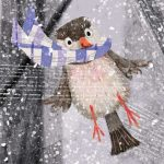 bird,  snow, and #mouse