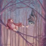 At Night, bat, adorable owl, #owl, Coffee, and whimsical