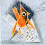 cardinal (bird), Letters, love letters, and paper airplane