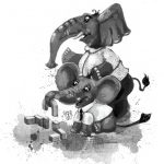 Elephants and playing
