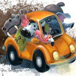 Animals and road trip