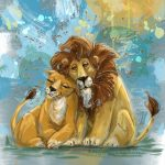 Lions,  love, and Animals
