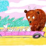 Easter, Easter Bunny, bear, driving, and fun