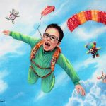 skydiving, boy, sky, fun, and toys