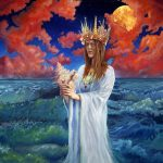 Ocean adventures, Greek mythology, oil painting, Fantasy Illustration, colorful background, and sea maiden
