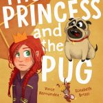 children's book illustration,   princess, Pug, and #mouse