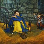A beautiful fairy tale for all ages., rumpelstiltskin, maiden, King Queen and Princess fairytale, and oil painting