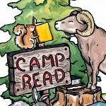 Animals, sheep, rabbit, squirrel, and Books and Reading