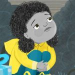 a party, sad, being scared, nervous, #Children's book, and kidlitart