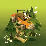 bigfoot, Friendly Monsters, Halloween picture book, and alphabet book