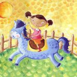 Picturebook and A girl and her horse