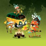 Friendly Monsters, tiki, vegetarian, racing, and Halloween picture book