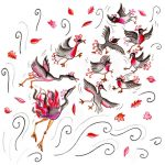 windy, birds, birds in flight, and autumn leaves