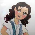 Book Character, latina girl, school uniform, and adventuresome girl