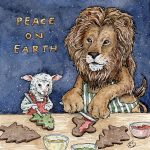 lion, lamb, christmas, cookies, cooking, friends, and anthromophism