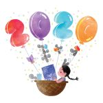 Chinese New Year, #mouse, Air balloon, and Books and Reading