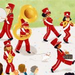 Band, marching band, tuba, and musical instruments