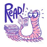 Bookworm, Books and Reading, earthworm, and ABC book