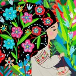Sewing,  garden,  girl heroes, embroidery, and Slavic mythology