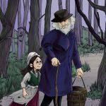 At Night, father-daughter, father daughter, moonlight, and in the woods