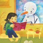 japanese, Japanese girl, New Year, Books and Reading, and snowman