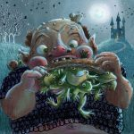 halloween, Halloween picture book, At Night, and Frogs