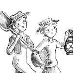 Tom Sawyer, huck finn, Action/Adventure Children's Story, middle grade, chapter book, and chapter headers