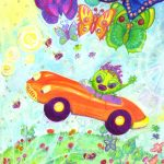 flying, cute monsters, butterflies, and art cars