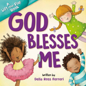 God Blesses Me is a lift-the-flap board book that will help children find the blessings in their daily life.