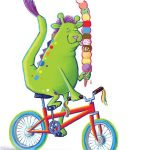 fun, bicycle, Friendly Monsters, cute, happy, and whimsical
