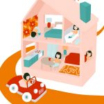 Editorial Illustration, morning, Dollhouse, and toys