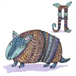 Armadillos, hand lettering, and Animals
