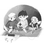 Black and White Art, Video Games, siblings, and tv